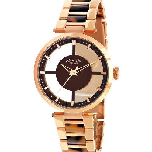 Transparent Gold Watch (Kenneth Cole New York Women's KC4766 Rose Gold Transparent Dial Round Watch)