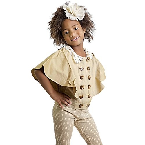 (Private Label Beige Lace Collar Cape Jacket (9 (3-4 yrs.)))