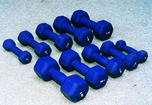 Bodybild Neoprene Hexagon Dumbbells - 2.5 Kg