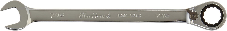 Full Polish Finish Blackhawk By Proto BW-1414 12 Point Combination Reversible Ratcheting Wrench 7//16-Inch