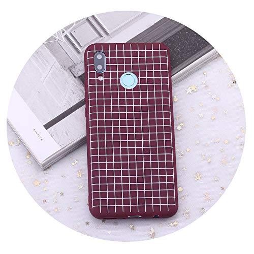 for Huawei Honor Mate 10 20 Nova P20 P30 P Smart Polka Dot Striped Heart Burgundy Candy Silicone Phone Case Capas Coque,9,Nova 2i (Barton Crystal Heart)