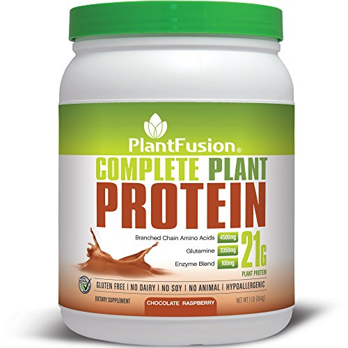 PlantFusion Complete Plant-Based Protein Powder, Chocolate Raspberry, 1 Lb Tub, 15 Servings, 1 Count