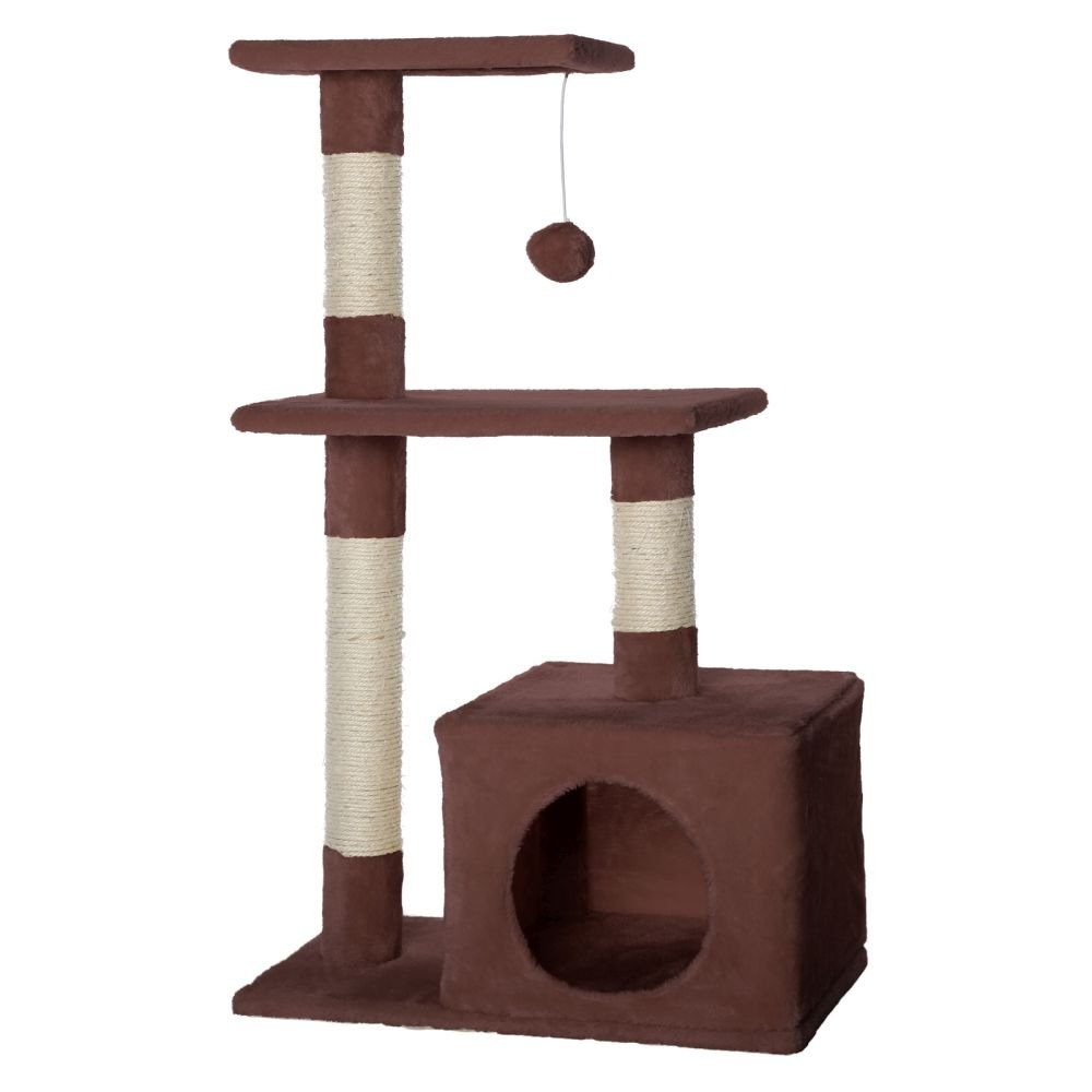 Dibea KB00250 Árbol Rascador para Gatos, Escalador, Altura 80 cm, Color Beige: Amazon.es: Productos para mascotas