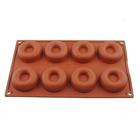 tangbasi DIY Donut molde moldes para pasteles de repostería de silicona para hornear un pastel