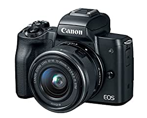 Canon EOS M50 Mirrorless Camera Kit w/EF-M15-45mm Lens and 4K Video (Black)