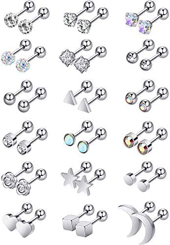 Stainless Earrings Rhinestone Cartilage Piercing product image