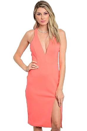 Coral Dresses Women
