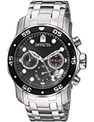 Invicta Mens Pro Diver Quartz Stainless Steel Watch, Color:Silver-Toned (Model: 21920)