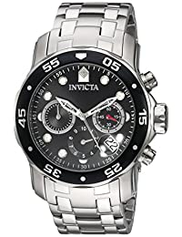Invicta Men's 'Pro Diver' Quartz Stainless Steel Automatic Watch, Silver-Toned (Model: 21920)