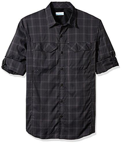 Columbia Men's Silver Ridge Lite Plaid Long Sleeve Top, Large, Black