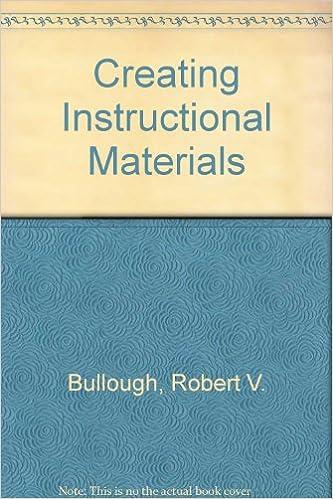 Creating Instructional Materials Robert V Bullough 9780675208680