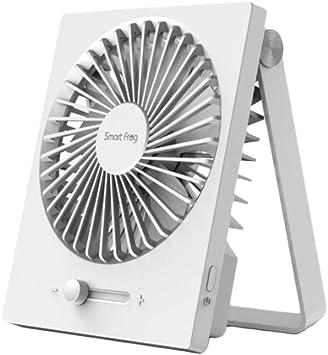 Qinlee - Ventilador de mesa pequeño, portátil, con USB, inclinable ...
