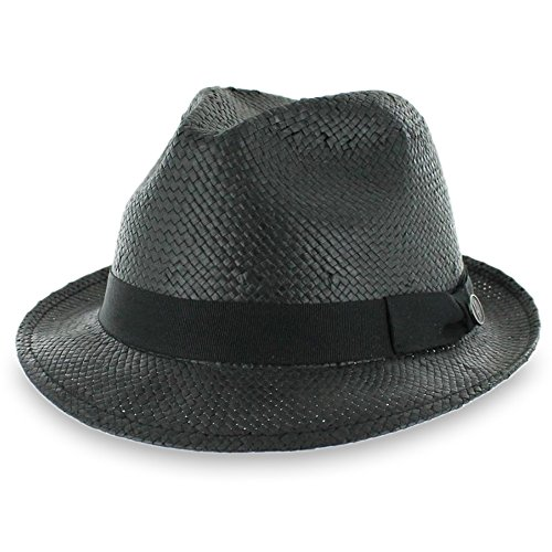Hats in the Belfry Belfry Straw Goon - Open-Weave Fedora (Ganster Suit)