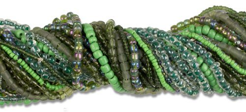 Cousin Jewelry Basics 90gm//3.18-Ounce Dark Green Seed Bead Mix by Cousin