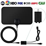 TV Antenna,Indoor Amplified Digital HDTV Antenna 50 Mile Range with Detachable Amplifier Signal