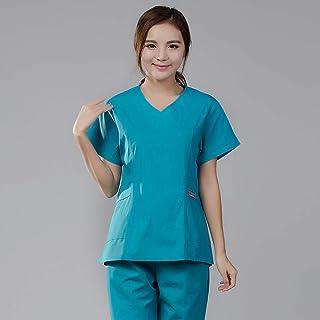 OPPP Abbigliamento medico Camici medicali Parrucchiere Tute Salone di Bellezza Tuta Medica Scrub Femminile Infermiera Uniforme Farmacia