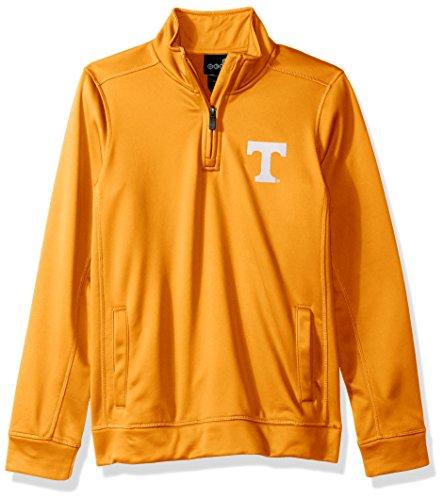 OuterStuff NCAA Tennessee Volunteers Youth Boys Trainer 1/4 Zip Jacket, Medium(10-12), Light - Volunteers Jacket Tennessee