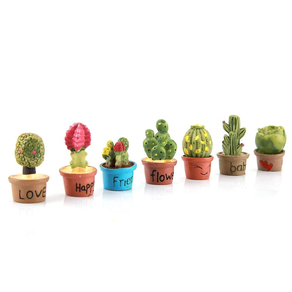 dise/ño de Cactus 7 Unidades Adornos de jard/ín en Miniatura Fdit