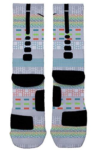 What The Multi Custom Designed Nike Elite Socks - Large (8-12) (Kobe Grape compare prices)