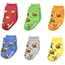 Trumpette Baby-Boys 6-pairs Newborn Maxwell Monkey socks, Multi, 0-12 Months