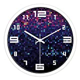 ideas for decorating a bedroom FYH Decorating Ideas Watch/Modern Living Room Silent Wall Clock/Bedroom Wall Charts Wall Clock (Color : C, Size : 12inch)