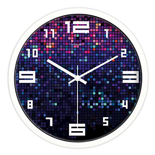 FYH Decorating Ideas Watch/Modern Living Room Silent Wall Clock/Bedroom Wall Charts Wall Clock (Color : C, Size : 12inch)