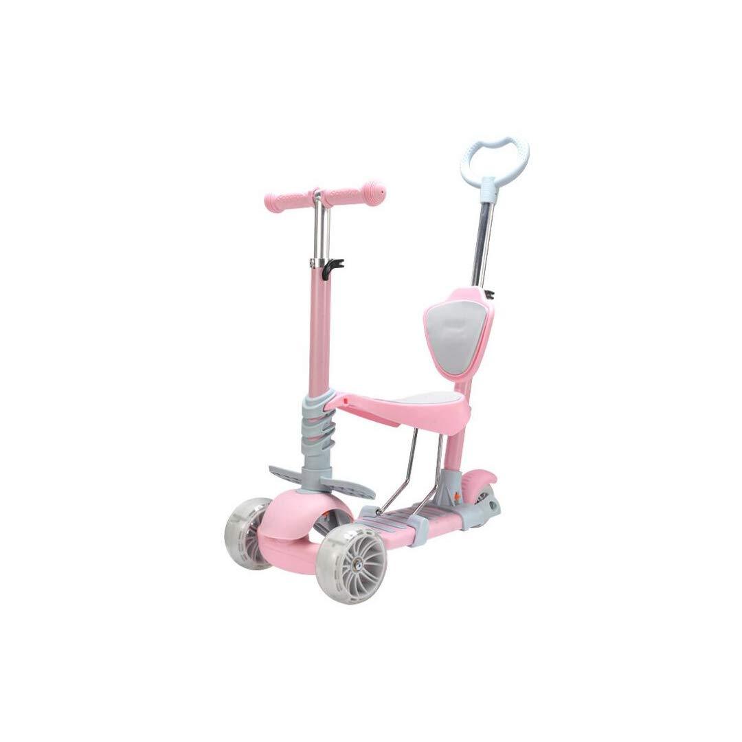 【人気ショップが最安値挑戦!】 TLMYDD Pink 子供の3ラウンドは1人の子供の子供のスクーターでスイングカースライド赤ちゃん2歳ブラケット5の上に座ることができます 子供スクーター TLMYDD : (色 : Pink) B07NRLFS39 Pink, フジシロマチ:b00511cb --- a0267596.xsph.ru