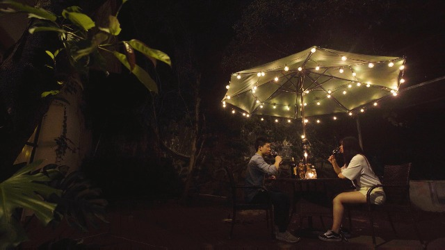 """Brightown LED G40 Outdoor String Lights 50FT Patio Lights with 51 LED Shatterproof Bulbs(1 Spare), Weatherproof Commercial Hanging Lights for Backyard Bistro Deck Party Decor, E12 Socket, 2700K, Black - SHATTERPROOF&SAFE: This led G40 bulbs made of plastic, much shatterproof than traditional glass bulb type. Low working temperature, and safe for touch. Multi-STRANDS CONNECTABLE: 6"""" lead with male plug, 12"""" spacing between bulbs, 6"""" tail with female connector. Total Length 50 Feet. Globe LED string lights can end to end connectable up to 7 strands(=350FT), feel free to customize your arrangements. ENERGY SAVING: Each LED bulb 0.4w (= 5W Tradition Bulbs), much lower wattage will save more energy for you, but the lifespan is 10-20 times of the traditional tungsten bulb. Candelabra (E12) socket base. - patio, outdoor-lights, outdoor-decor - 51d728 ht%2BL -"""