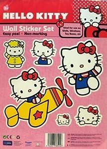 Hello Kitty Wall Sticker Set Plane Amazoncouk Garden Outdoors - Hello kitty wall stickers