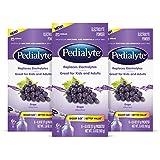 Pedialyte Electrolyte Powder, Electrolyte Drink, Grape, Powder Sticks, Size, 0.6 oz, 18 Count