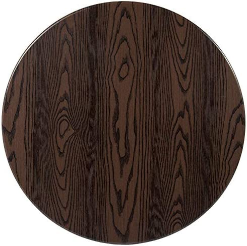Flash Furniture 30 Round Rustic Wood Laminate Table Top