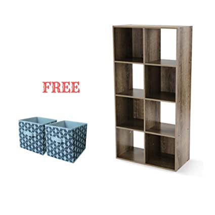 check out 61cc2 11a1c Mainstay.. Cube Storage Organizer (8 Cube, Rustic Brown with Bin)