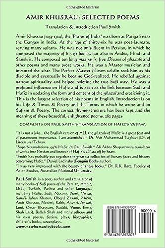 Amir Khusrau: Selected Poems: Paul Smith: 9781479297207: Amazon ...