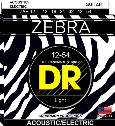 DR Strings Zebra - Acoustic-Electric Round Core 12-54
