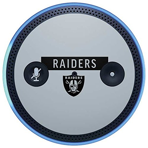 Skinit NFL Oakland Raiders Amazon Echo Plus Skin - Oakland Raiders Silver Performance Series Design - Ultra Thin, Lightweight Vinyl Decal Protection