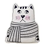 Cute Plush Toy,Decorative Throw Pillow,Sofa Stuffed Animal Toys Doll,Back Cushion, Creative Funny Baby Room Pillow Cushion Gifts for Home Office Travel for Kids 18'' (Cat)