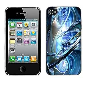 Estuche Cubierta Shell Smartphone estuche protector duro para el teléfono móvil Caso Apple Iphone 4 / 4S / CECELL Phone case / / glass blue ice earth planets aliens sci-fi /