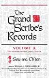 img - for The Grand Scribe's Records: Volume X: The Memoirs of Han China, Part III book / textbook / text book