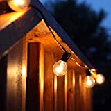 100Ft G40 String Lights +5 Spare Bulbs 105 Edison Style Globe bulbs w/ Black 100 Foot Non-connectable Outdoor Light String