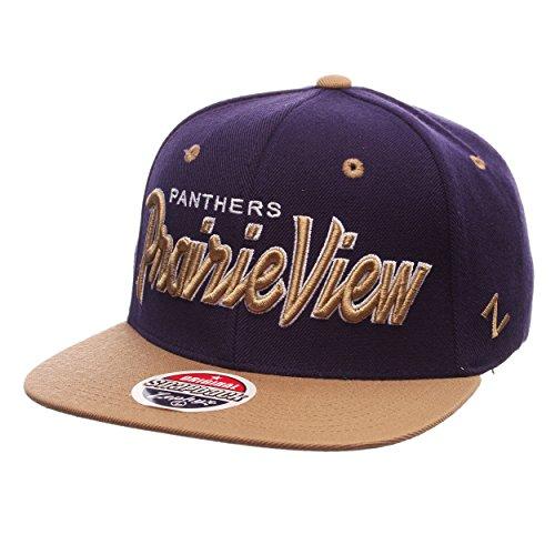 Prairie View Panthers Headliner Adjustable Snapback Cap - NCAA Flat Bill 2-Tone Zephyr Baseball -