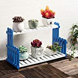 HZB Solid Wood Flower Rack Living Room Balcony Floor Multi Storey Flower Pot Shelf