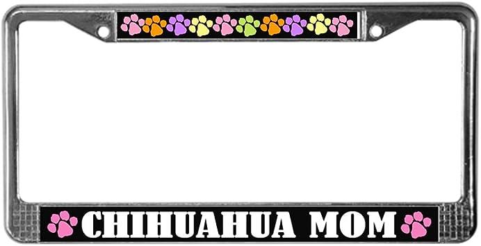 License Tag Holder CafePress Dog Mom Chrome License Plate Frame