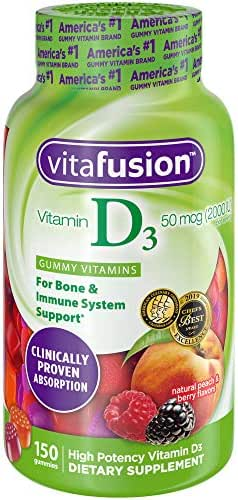 Vitafusion Vitamin D3 Gummy Vitamins 150 ct