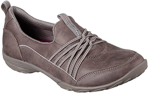 Skechers Womens Empress - Lets Be Real Walking Sneaker, Dark Taupe, Size 10