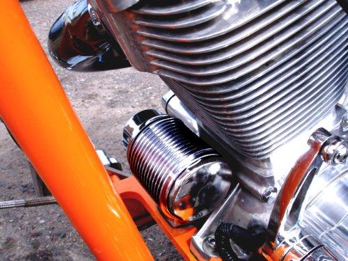 Harley Engine Oil Coolers : Harley davidson design billet oil cooler no tools to