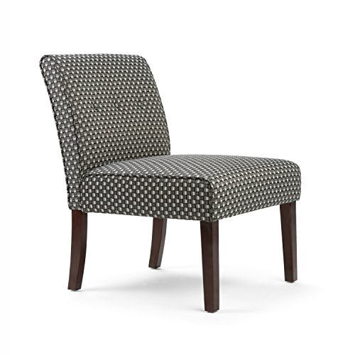 Simpli Home Sally Brook Patterned Accent Chair, Grey