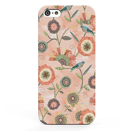Koveru Back Cover Case for Apple iPhone 5S - Pink Flower Art