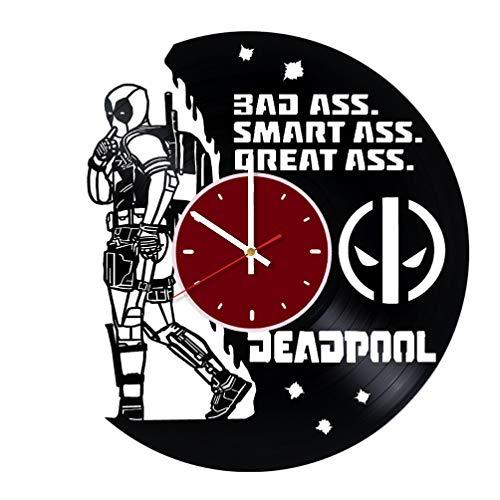 Deadpool Funny Superhero Vinyl Wall Clock Living Room Home Decor