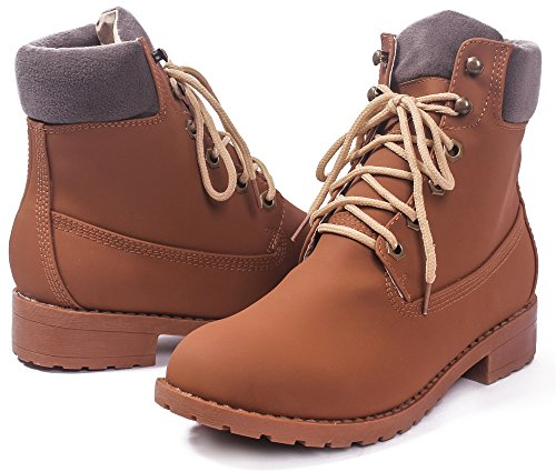 Closed Frosted Shoes Heels Toe Pointed AgeeMi Women's Dark Zipper Kitten Solid Boots Brown wX4d8qAd