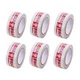 AGU Warning Fragile Tape-Handle with Care Packing Printing Tape-2 inch x 330 Feet (110 Yards) -6Rolls